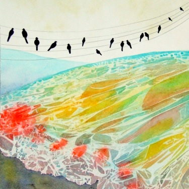 "Life is Like a Butterfly ©Deborah Burrow Framed at 15.5x15.5"" £185"