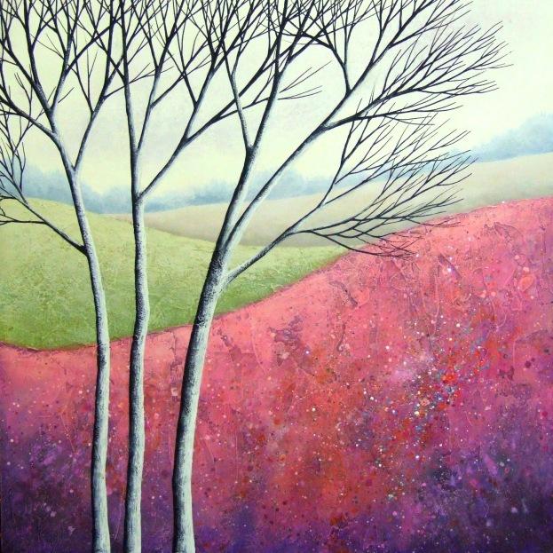 """Elegant Birches V ©Deborah Burrow 12x12"""" £295"""