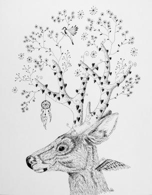 Stag's Dreaming Crown ©Deborah Burrow