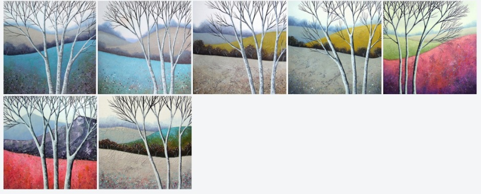 The Elegant Birches series